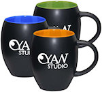 15oz Matte Barrel With Color Mugs